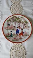 Régi,kézzel festett,japán tányér
