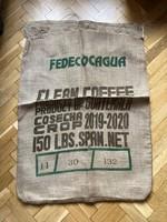 Használt kávészsák, zsák, vászon