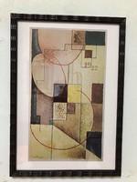 Bortnyik Sándor (1893 - 1976)  Múzeumi Litográfia! Geometriai kompozíció