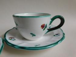 Gmundeni (Gmundner Keramik) Streublumen (havasi virágok) teás/hosszú kávés szettek