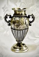 Bámulatba ejtő  antik ezüst tárgy !  Mini váza