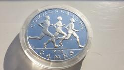1978 Olimpiai játékok 0.925 ritka ezüst érme 30.4g Szamoa