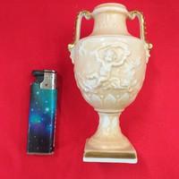Német Plaue Von Schierholz Porcelán Váza 12.5 cm