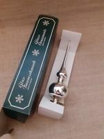 Régi üveg karácsonyfa csúcsdísz dobozában 1-db