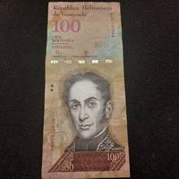Gyönyörű Venezuelai 100 Bolivár 2015