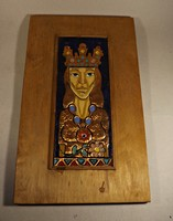 Réz falikép  fatáblán
