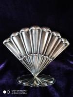 Ezüst 800-as legyezőformájú szalvétatartó