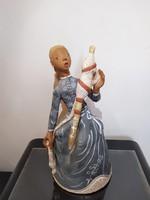 Kovács Margit: Fonó lány kerámia szobor