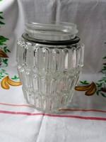 Lámpa tartozék retro vastag üvegbura