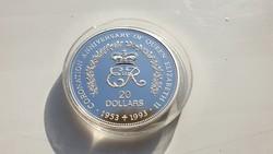 Niue 1953 - 1993 Királyné koronázása 0.925ag 31.47 gr ezüst érme