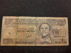 Etiópia 1 Birr 1997