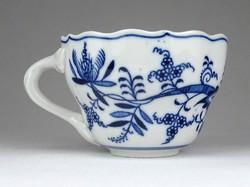 1E069 Antik Meisseni hagymamintás kék fehér csésze magában