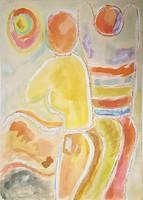Németh Miklós - 42 x 31 cm akvarell, papír