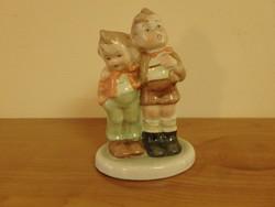 Porcelán gyermekpár