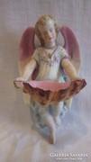 Porcelán fali szenteltvíztartó angyal