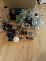 Sok kis üveg(patikai,tintás stb.)55db
