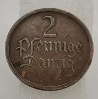 Danzig (Gdanszki) Szabad Város 2 pfennig, 1926! Nagyon ritka!