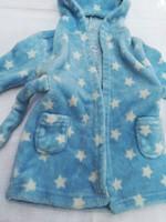 Puha,meleg kék-csillagos bébi-gyermek fürdőköpeny