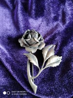 Ezüst nagy női rózsa bross (925 USA)