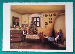 Karácsonyi  postatiszta képeslap,Török János - Karácsony ,