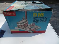 Régi retro játék Wilesco D16 gőzgép