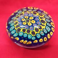 Muránói Millefiori Levél Nehezék Nagy Méret 10 x 6,5 cm