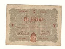 1848 as 5 forint Kossuth bankó papírpénz bankjegy 48 49 es szabadságharc pénze sor  rü e