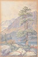 Wallachy Jenő (1855-1934): Hegyvidéki táj.