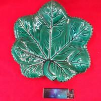 Francia Vallauris Kerámia Levél Kínáló,Tál,Asztalközép 22 cm