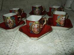 Antik Altwien kávés gyönyörű darabok 12 db