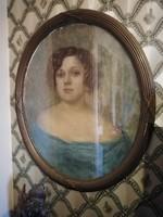 Ritkaság!! Turmayer Sándor (1879-1953) festménye, Turay Ida portre!