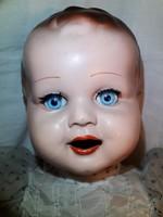 Antik régi baba 46 cm