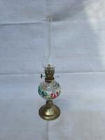 Antik Kézzel Festett Mini Petróleum Lámpa.