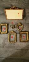 Szecessziós antik réz fotó tartók