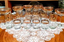Aranyozott pohárkészletek - egyben
