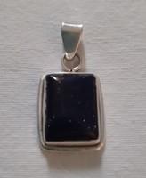 Ezüst medál (925)  sötétkék kővel