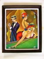 A nagy játszma / art deco styl. / Seres Sándor festménye