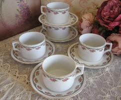 5db Zsolnay rózsás csésze