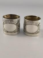 Csodás antik ezüst szalvétagyűrű párban