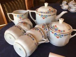 Chodau teás készlet, antik, megkapóan szép, ritkaság (200)