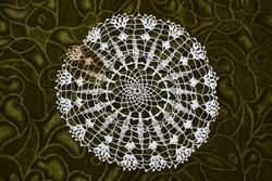 Horgolt csipke terítő kézimunka lakástextil dekoráció kis méretű terítő 19 cm