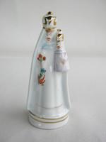 Hollóházi porcelán Madonna a kisdeddel