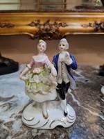 Porcelán barokk pár