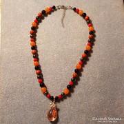 Tőcsakra nyaklánc Lodolittal és drágakövekkel- kézműves term