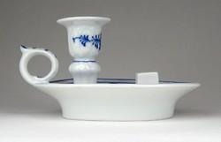 1E072 Antik Meisseni hagymamintás kék fehér porcelán sétáló gyertyatartó