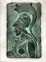 Görög mitológiai falidísz, Pallas Athene