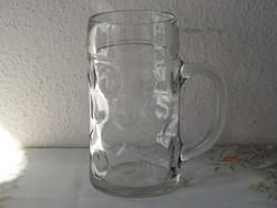 Hatalmas üveg sörös korsó ( 1 Literes )