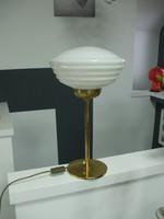 Art deco burás réz asztali lámpa
