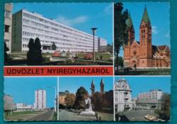 Nyíregyháza látnivalói képeslapon 1978.