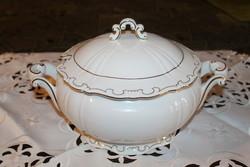Zsolnay barokk tollazott levesestál
